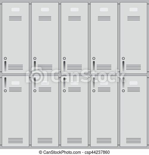 School Or Changing Room Lockers Private School Lockers Or Gym Of Metal Background Closeup
