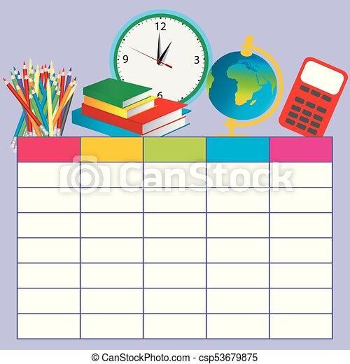 school plan template