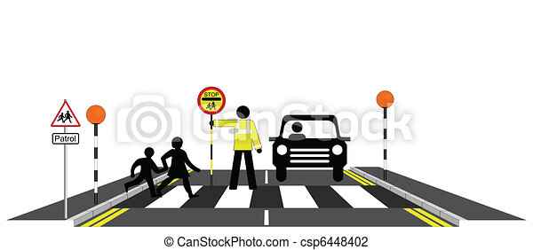 school, politieagent - csp6448402