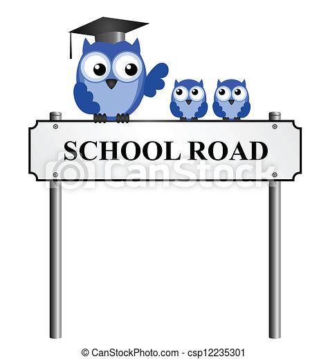 School Road street name sign  - csp12235301