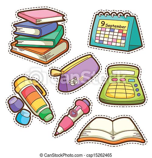 school set. set of different school items - csp15262465