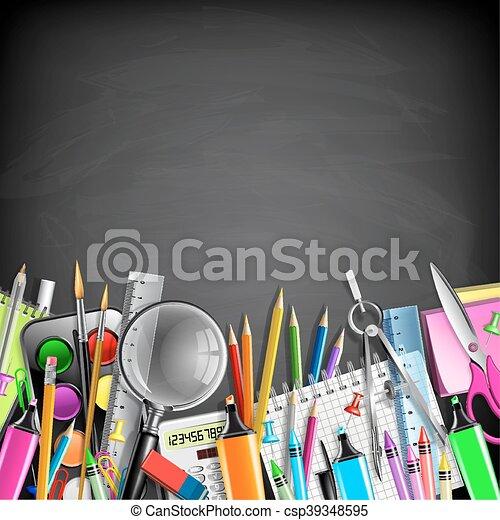 School Stationery Border - csp39348595