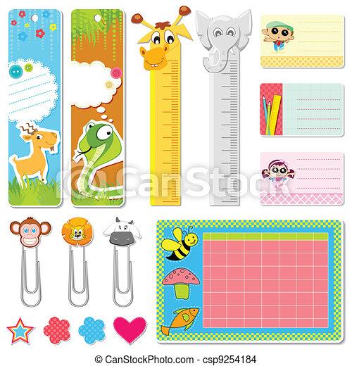 School Stationery - csp9254184