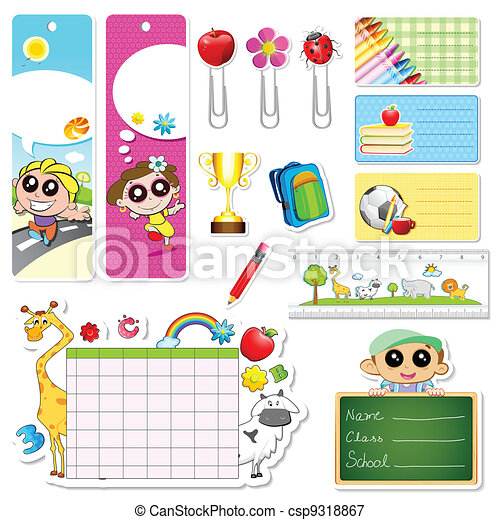 School Stationery - csp9318867