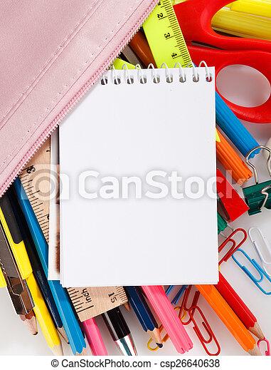 school stationery - csp26640638