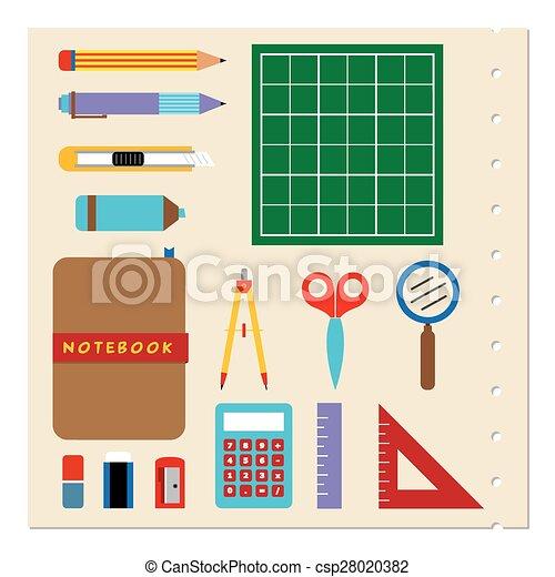 School Stationery Supplies. - csp28020382