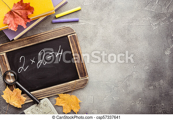 School supplies and blackboard - csp57337641