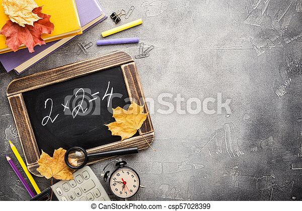School supplies and blackboard - csp57028399