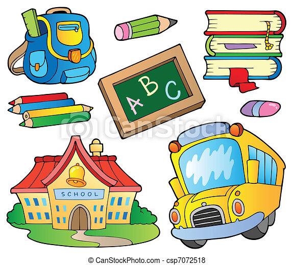 School supplies collection 1 - csp7072518