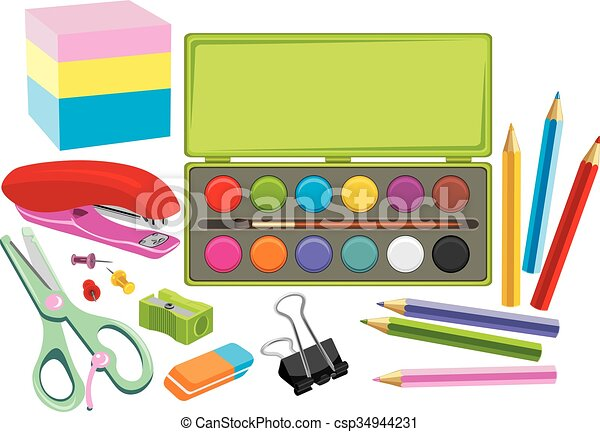 school supplies vectors search clip art illustration drawings rh canstockphoto ca free clipart images of school supplies clipart images of school supplies