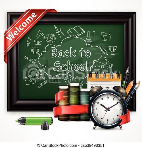 School time Alarm vector illustration - csp39498351