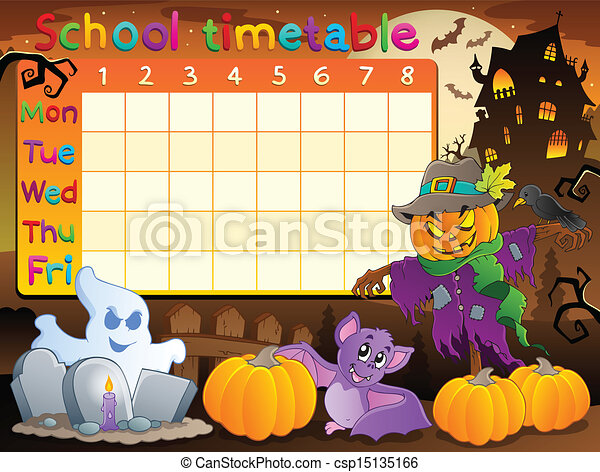 School timetable topic image 2 - csp15135166