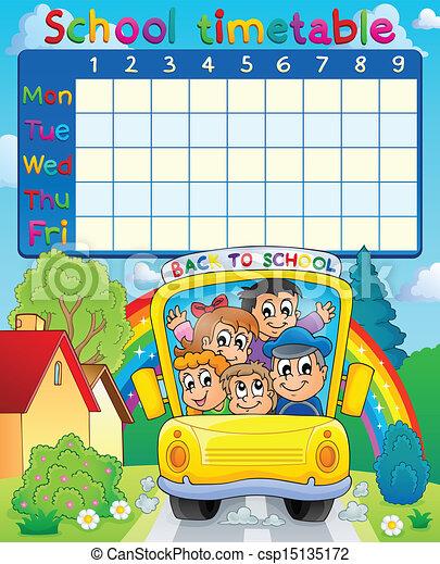 School timetable topic image 3 - csp15135172