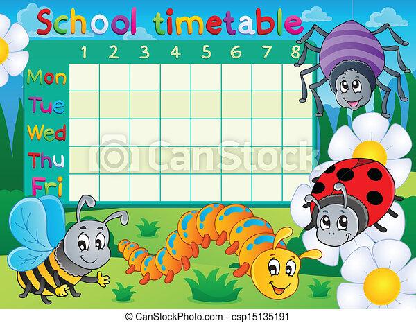 School timetable topic image 6 - csp15135191