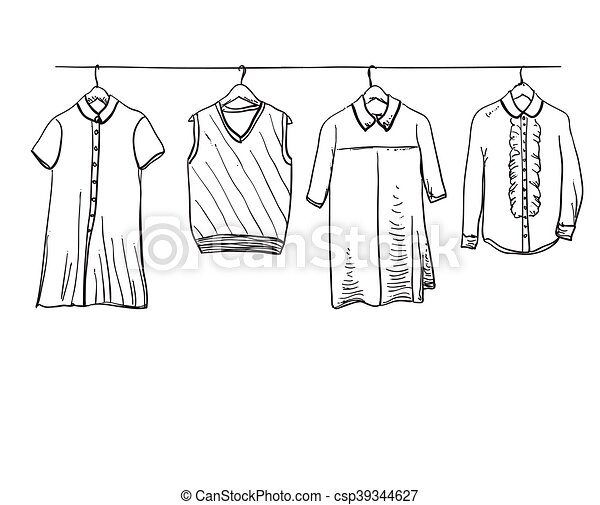 School Uniform Clothes On The Hanger School Uniform