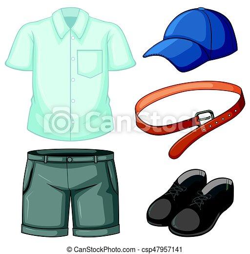 school uniform set on white background illustration eps vector rh canstockphoto com school uniform clipart black and white a schoolboy in uniform - clipart