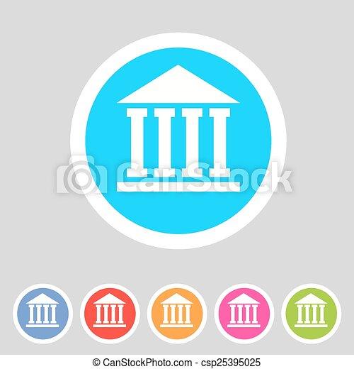 school, university, academy flat icon sign set - csp25395025