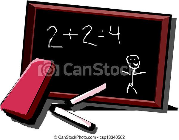 school, vector, bureau - csp13340562