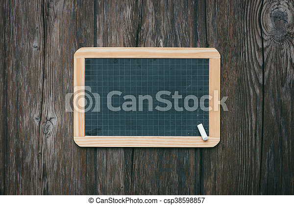 School vintage blackboard - csp38598857
