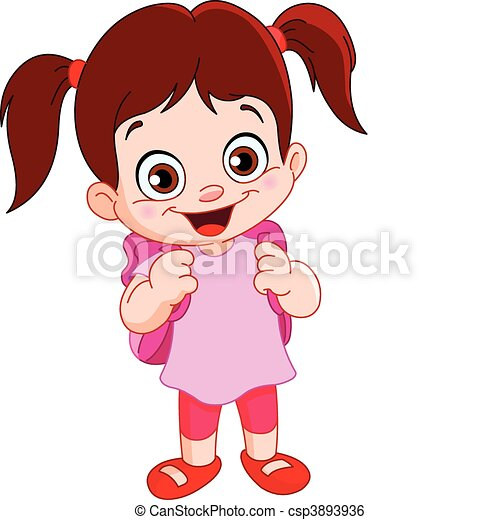 cute schoolgirl clip art vector search drawings and graphics rh canstockphoto com school going girl clipart high school girl clipart