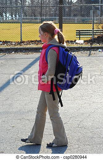 schoolmeisjes - csp0280944