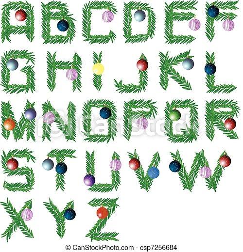 Schriftart Weihnachten.Schriftart Baum Weihnachten
