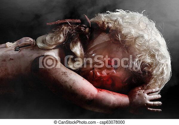 schrikaanjagend, eyes, bloedig, rood, pop - csp63078000