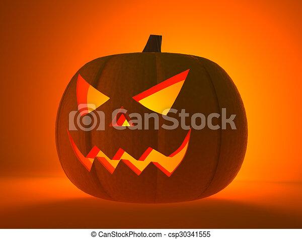 Pompoen Voor Halloween.Schrikaanjagend Pompoen Halloween Gezicht