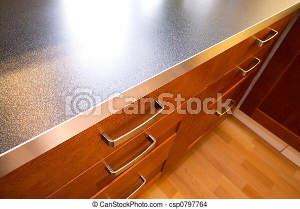 Küchentheke und Schublade - csp0797764