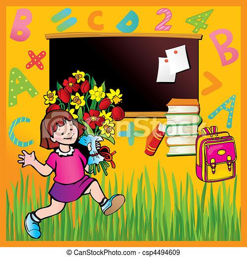 schule, childhood. - csp4494609