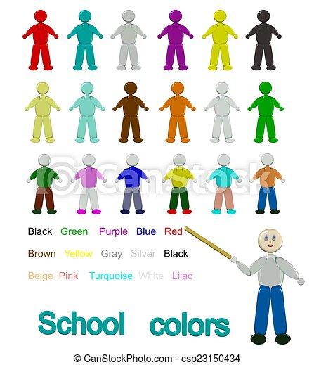 Schule, farben. Farbe, bilder, palette, kinder, unterricht ...