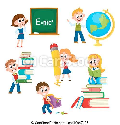 Writing board, chalk board at school, school lesson clipart, picture,  cartoon