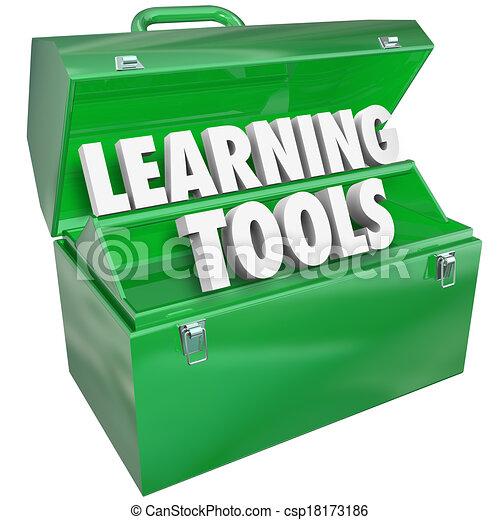 schule- kursteilnehmer, lernen, wörter, unterricht, werkzeugkasten, bildung, werkzeuge - csp18173186