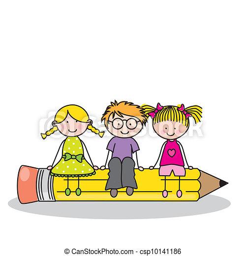 schule, zurück, karte - csp10141186