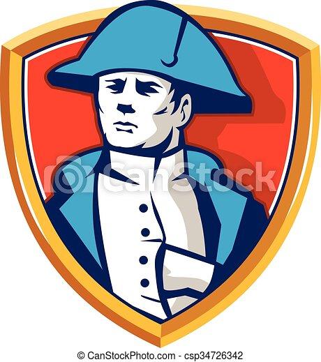 Schutzschirm Bonaparte Retro Hut Napoleon Bicorn Tragen Satz