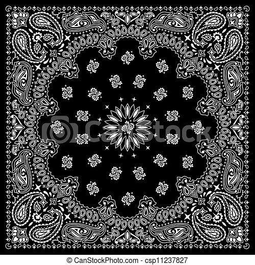 schwarz, bandana - csp11237827
