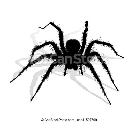 schwarz spinne silhouette spider schwarz silhouette vektor clipart suche. Black Bedroom Furniture Sets. Home Design Ideas