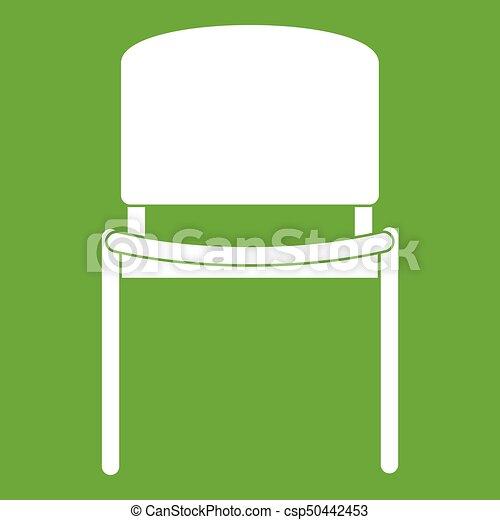 Schwarz Stuhl Grün Buero Ikone