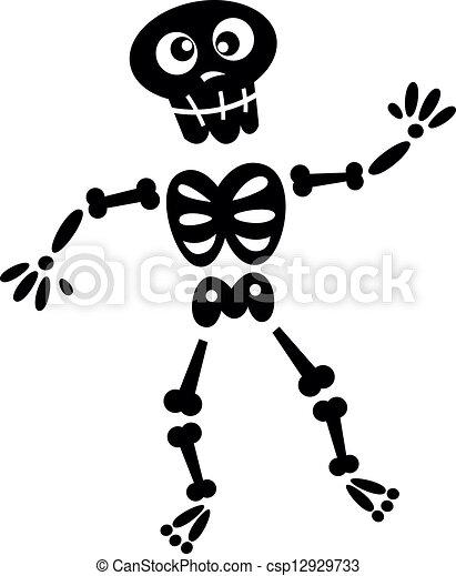 Schwarz, weißes, silhouette, skelett, freigestellt.... Vektoren ...