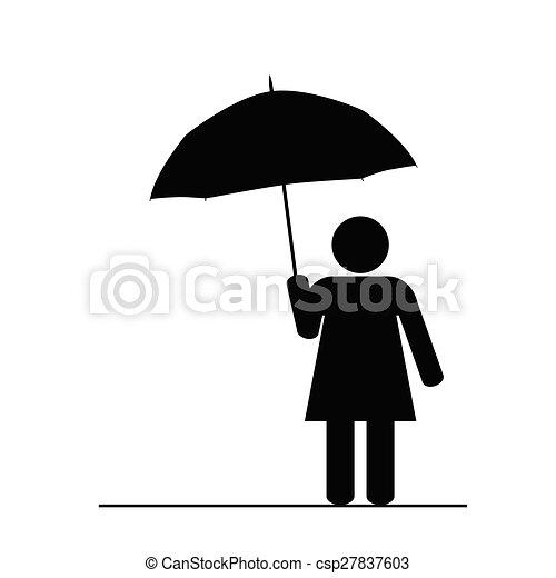 Schwarzes Mädchen Vektor Schirm Schwarzes Mädchen Vektor Kunst