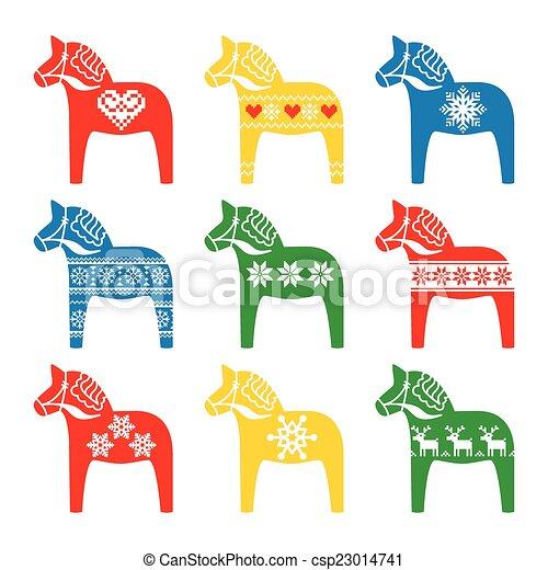Schwedische traditionelle muster  Schwedische , dala, pferd, dalecarlian. Pferd, dala, symbol ...