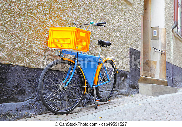 Schwedische , , fahne, fahrrad, stockholm. Schwedische