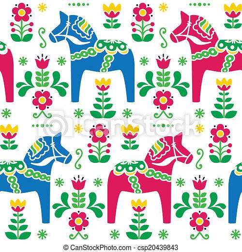 Schwedische traditionelle muster  Schwedische , kunst, dala, leute, muster. Rosa, blaues,... EPS ...