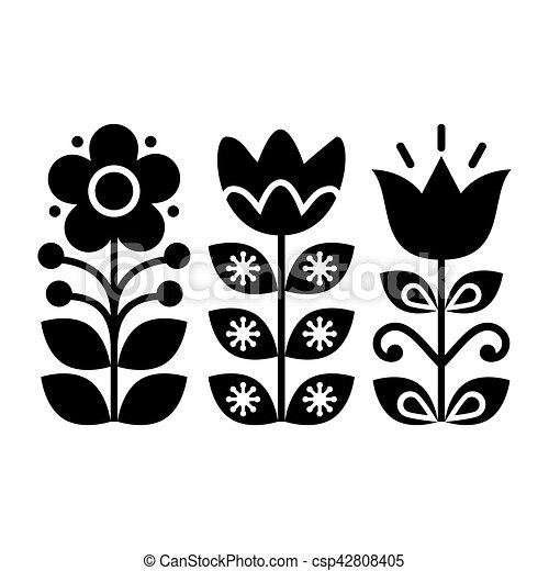 Schwedische traditionelle muster  Schwedische , kunst, muster, -, traditionelle , design,... Vektor ...