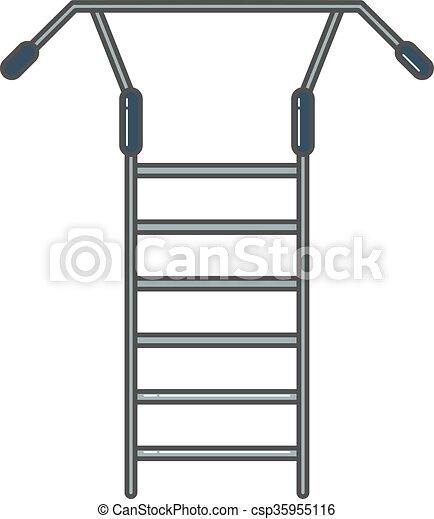 schwedische oder treppenaufgang wand leiter werkzeug vektor clipart suchen sie. Black Bedroom Furniture Sets. Home Design Ideas