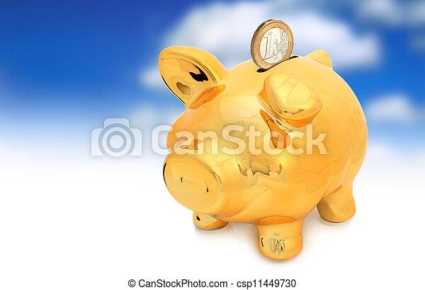 schweinchen, bank. - csp11449730