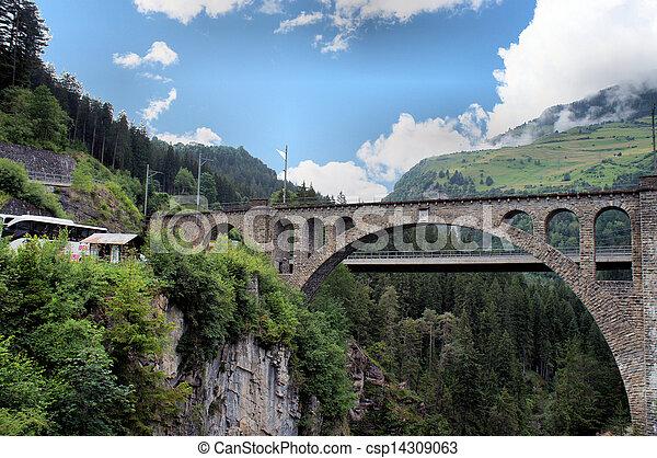 schweizerisch, brücken - csp14309063