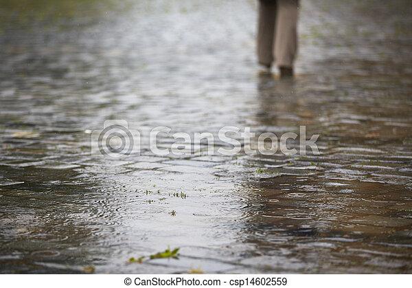 schwerer regen - csp14602559