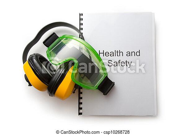 schwimmbrille, gesundheit, kassa, sicherheit, kopfhörer - csp10268728