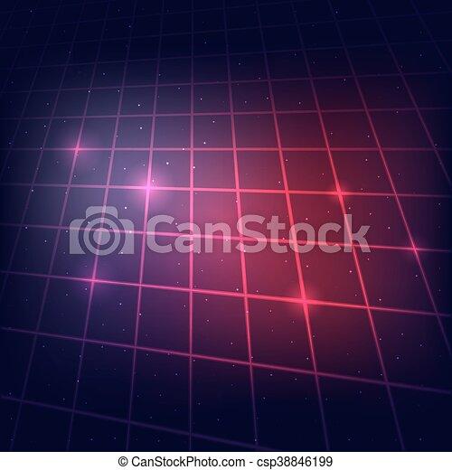 Sci Fi Grid Background